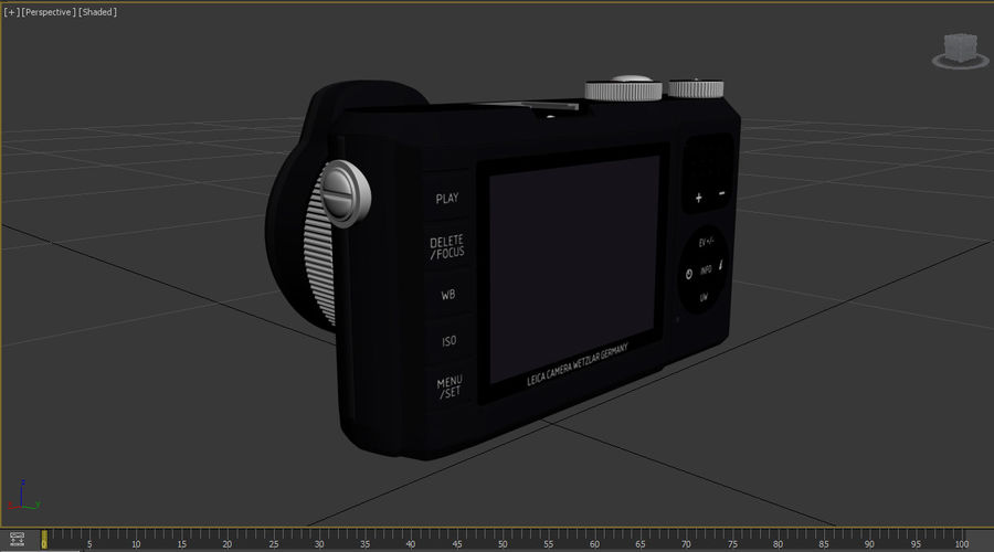 Leica XU Fotoğraf Makinesi DSLR royalty-free 3d model - Preview no. 32