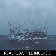 капельный реальный поток 3d model