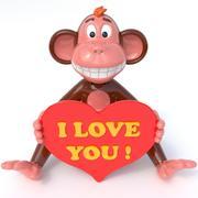 猿の愛 3d model