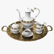 Goldenes Kaffee-Set 3d model