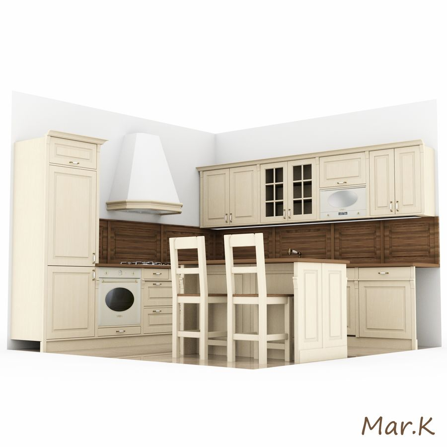 Kitchen (3) royalty-free 3d model - Preview no. 5