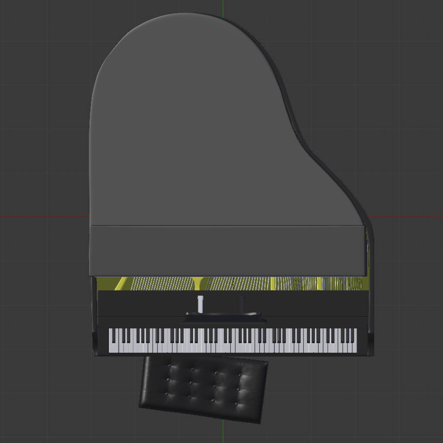 Piano royalty-free 3d model - Preview no. 6