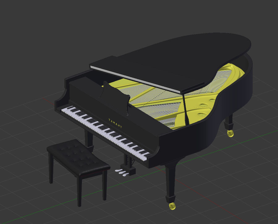 Piano royalty-free 3d model - Preview no. 8