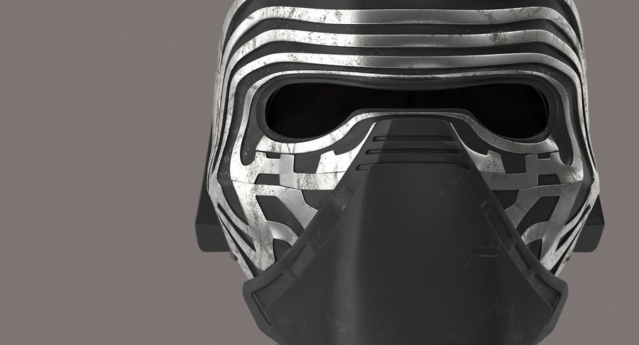 Kylo Ren Helmet royalty-free 3d model - Preview no. 11