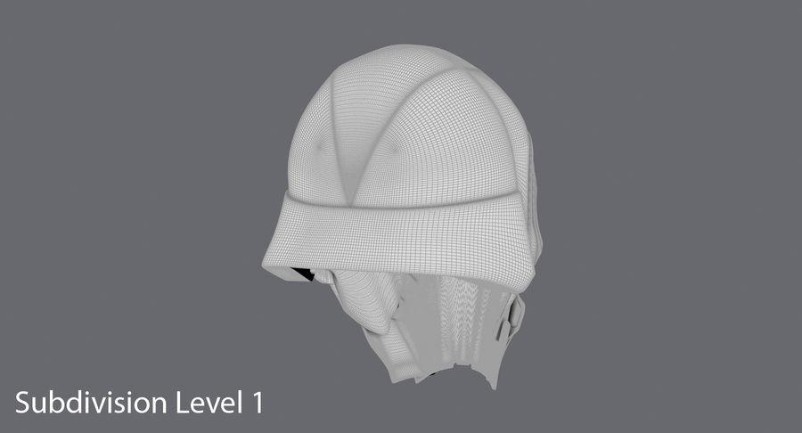 Kylo Ren Helmet royalty-free 3d model - Preview no. 18
