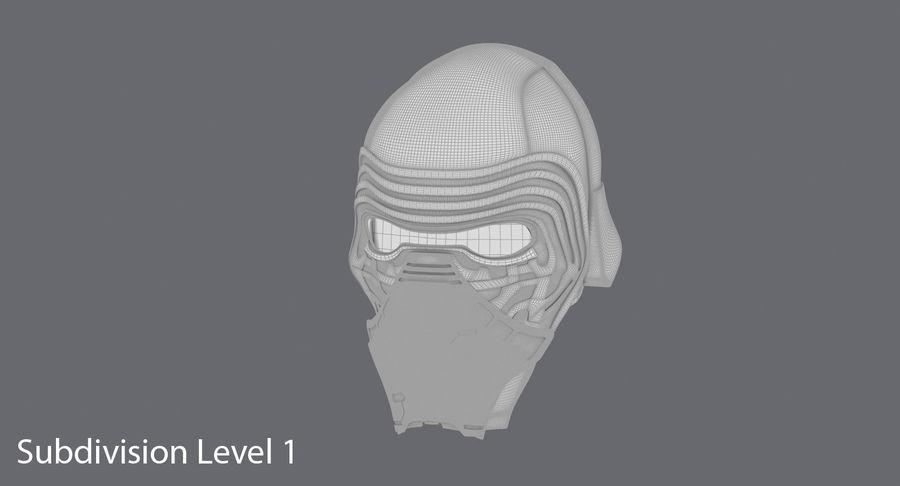 Kylo Ren Helmet royalty-free 3d model - Preview no. 14