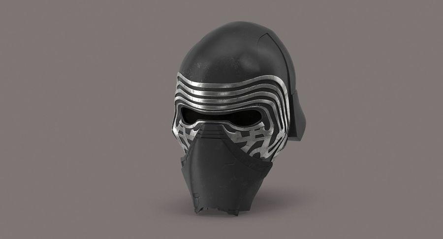 Kylo Ren Helmet royalty-free 3d model - Preview no. 3