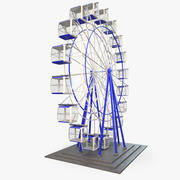 Karuzela Ferris Wheel Rigged 3d model