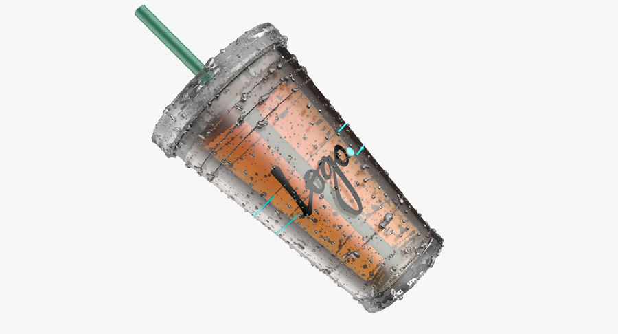 Starbucks royalty-free 3d model - Preview no. 13