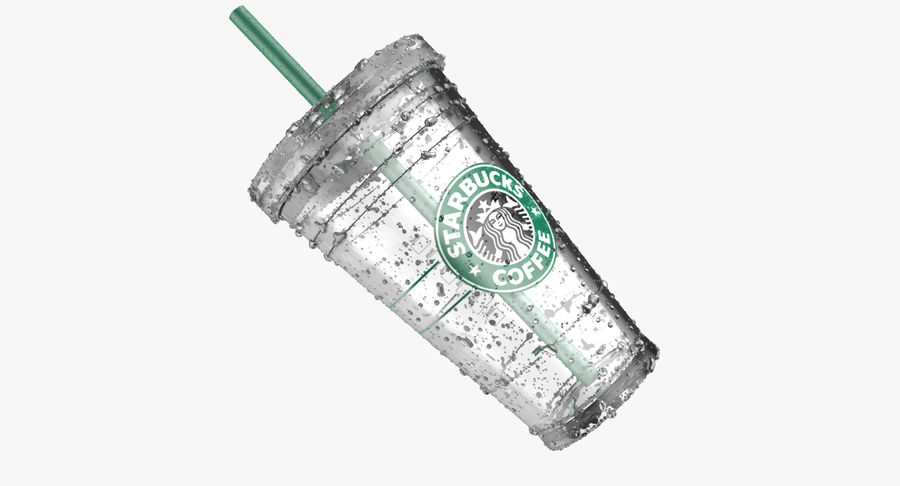 Starbucks royalty-free 3d model - Preview no. 6