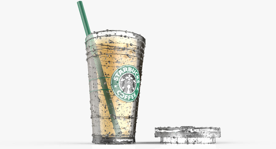 Starbucks royalty-free 3d model - Preview no. 12
