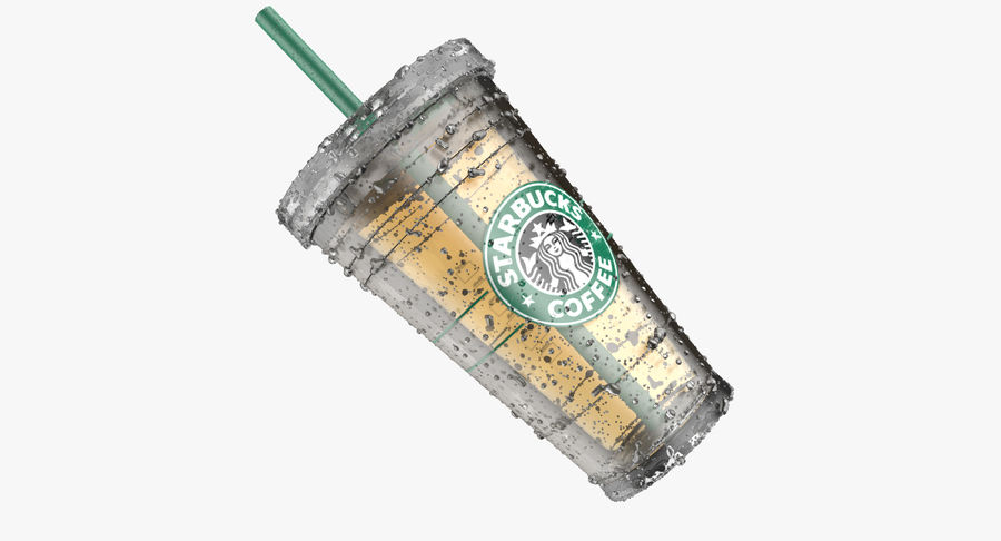 Starbucks royalty-free 3d model - Preview no. 4