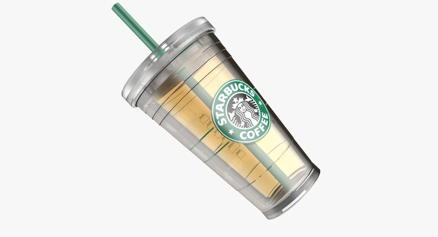 Starbucks royalty-free 3d model - Preview no. 5