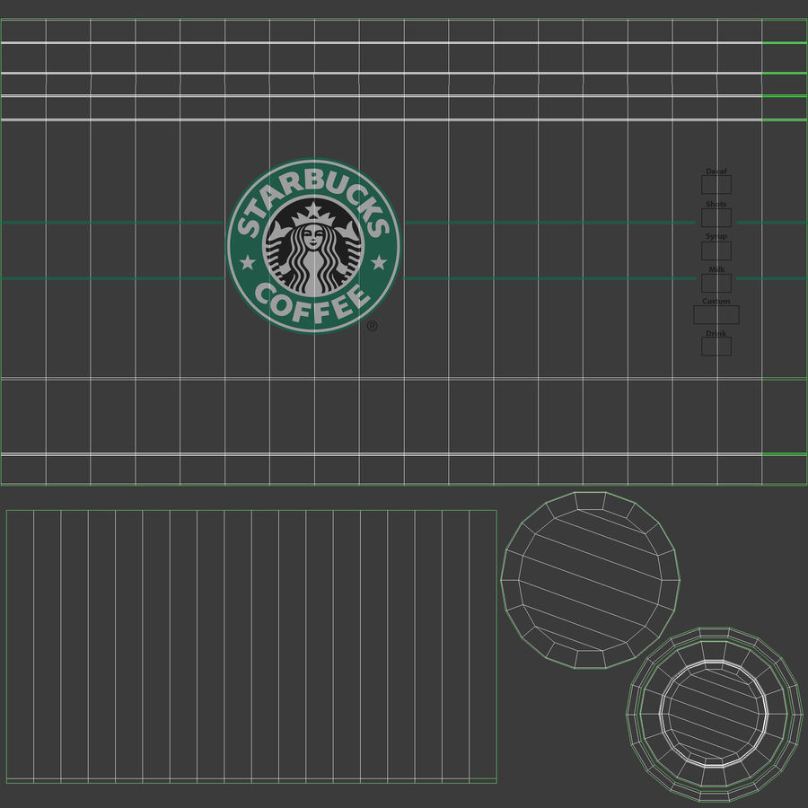 Starbucks royalty-free 3d model - Preview no. 19