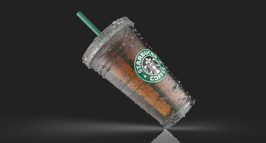 Starbucks royalty-free 3d model - Preview no. 3