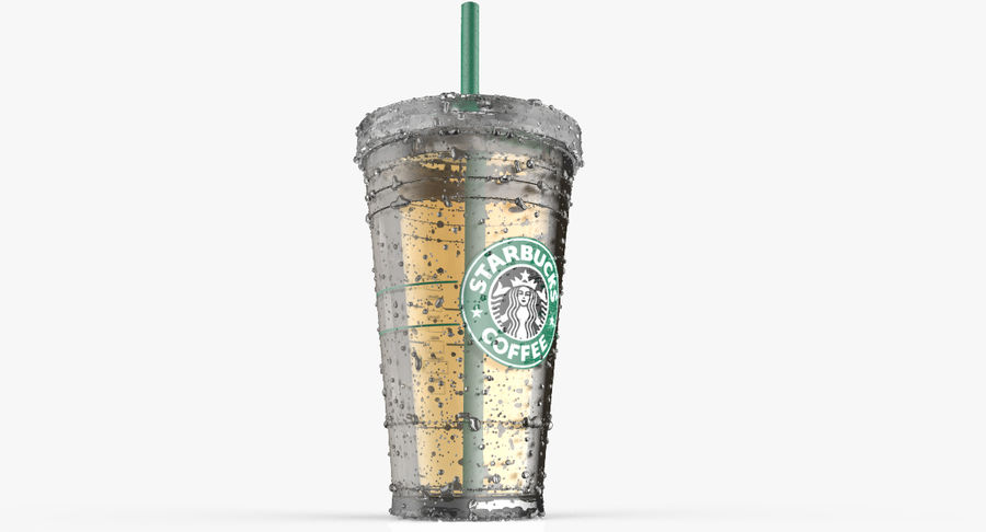 Starbucks royalty-free 3d model - Preview no. 11