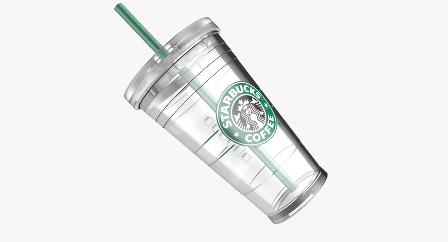 Starbucks royalty-free 3d model - Preview no. 7