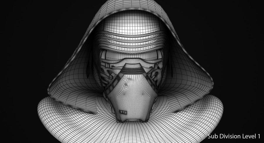 Kylo Ren Helmet royalty-free 3d model - Preview no. 10