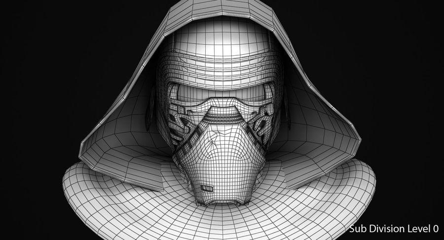 Kylo Ren Helmet royalty-free 3d model - Preview no. 9