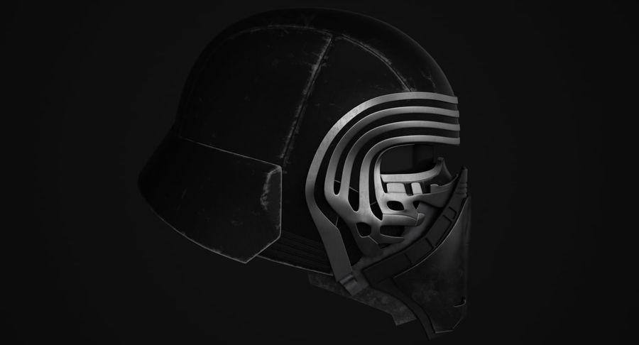 Kylo Ren Helmet royalty-free 3d model - Preview no. 6
