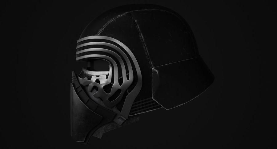 Kylo Ren Helmet royalty-free 3d model - Preview no. 7