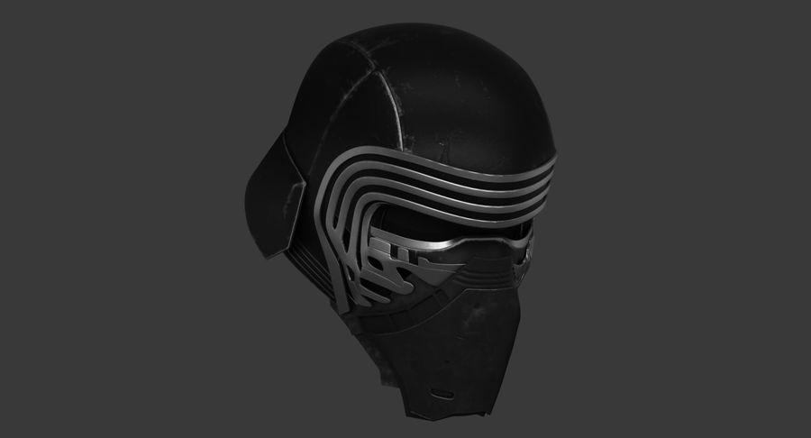 Kylo Ren Helmet royalty-free 3d model - Preview no. 4