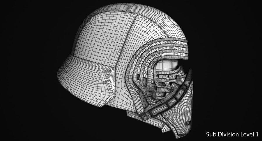 Kylo Ren Helmet royalty-free 3d model - Preview no. 12