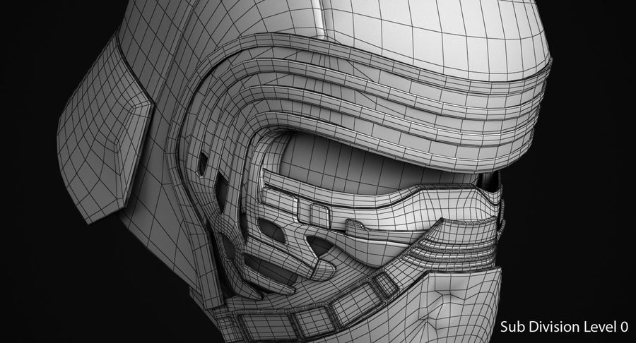 Kylo Ren Helmet royalty-free 3d model - Preview no. 13