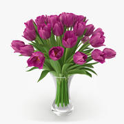 Tulips in Vase 11 3d model
