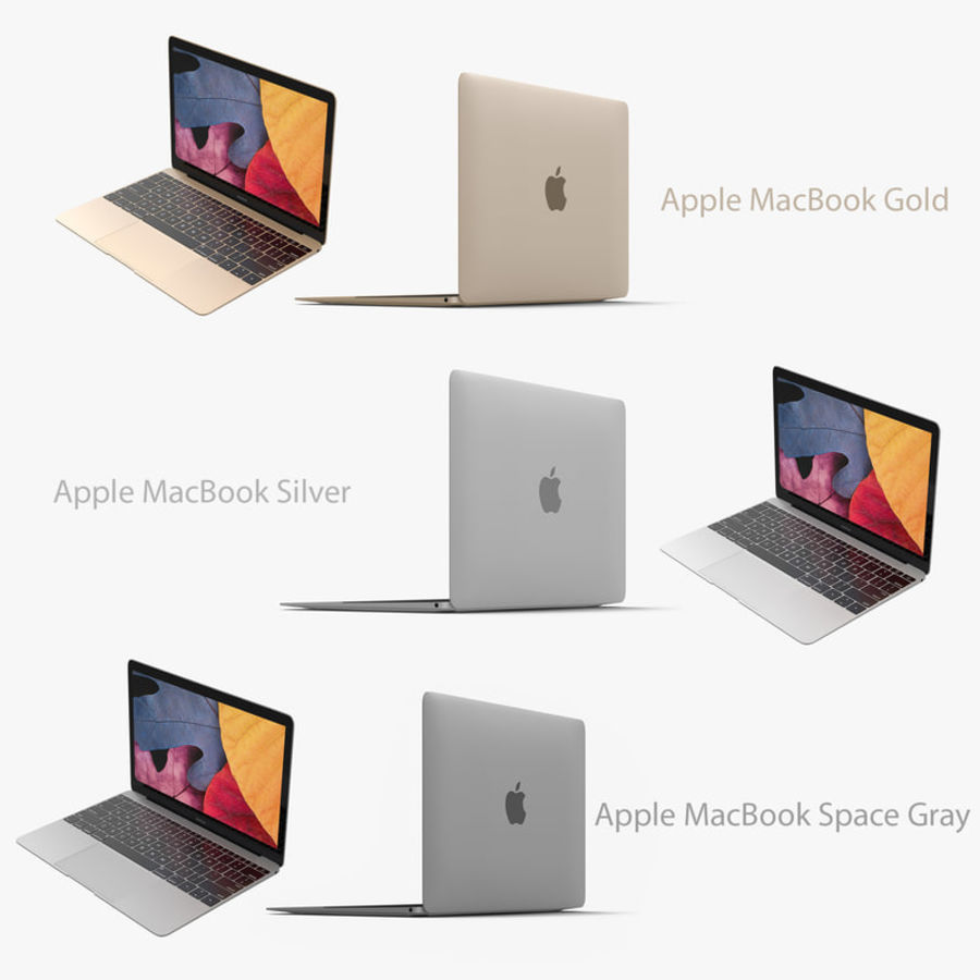 苹果MacBook系列 royalty-free 3d model - Preview no. 1