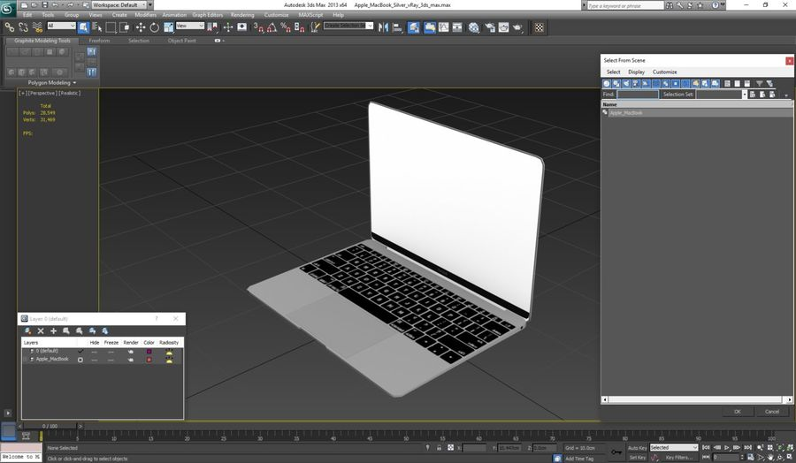 苹果MacBook系列 royalty-free 3d model - Preview no. 11