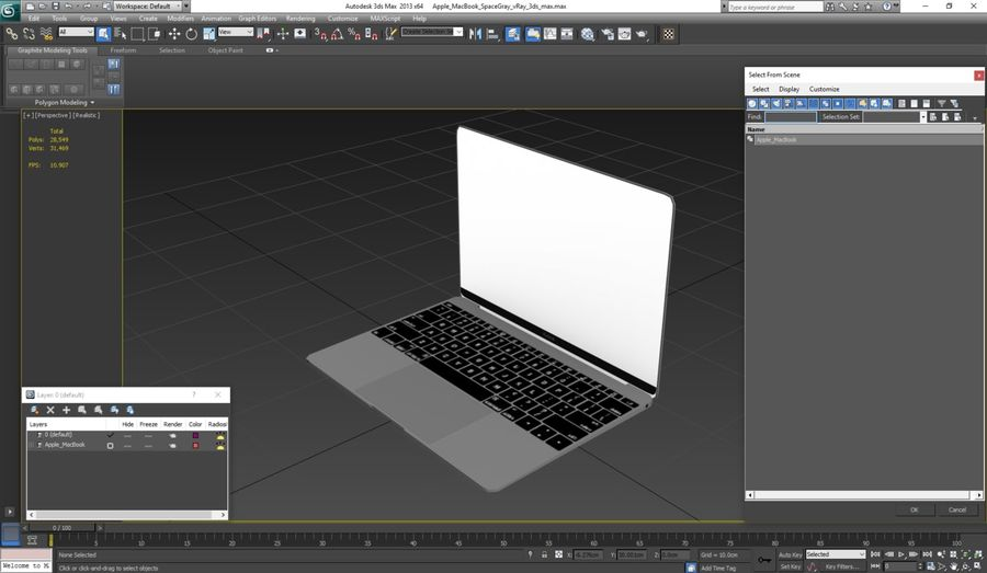 苹果MacBook系列 royalty-free 3d model - Preview no. 20