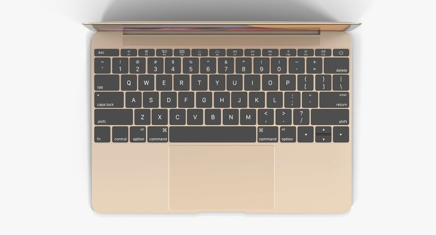 苹果MacBook系列 royalty-free 3d model - Preview no. 10