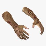 Zombie Hands Pose 2 3D Model 3d model
