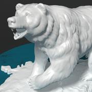 """statuette """"Bear"""" 3d model"""