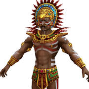 Mayan priest 3d model