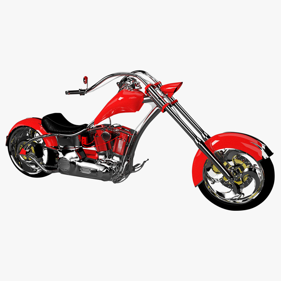 Motocykl Chopper royalty-free 3d model - Preview no. 1