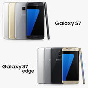 Samsung Galaxy S7 and Samsung Galaxy S7 Edge 3d model