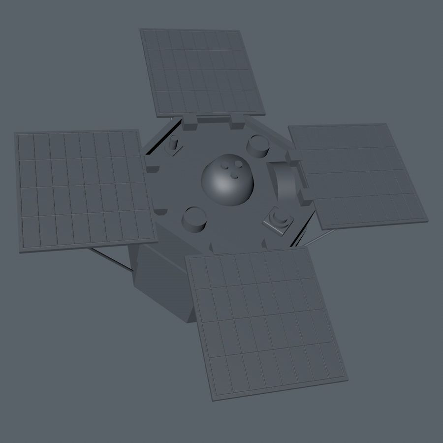 ACRIM Satellite royalty-free 3d model - Preview no. 10