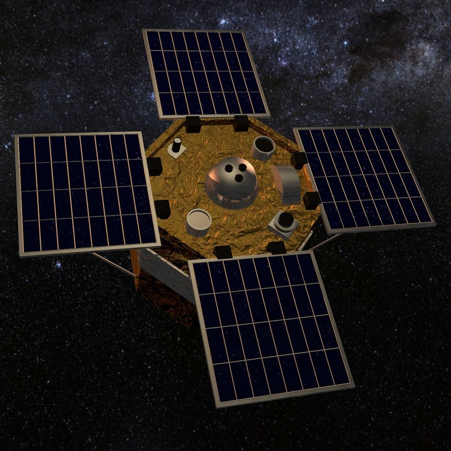 ACRIM Satellite royalty-free 3d model - Preview no. 3