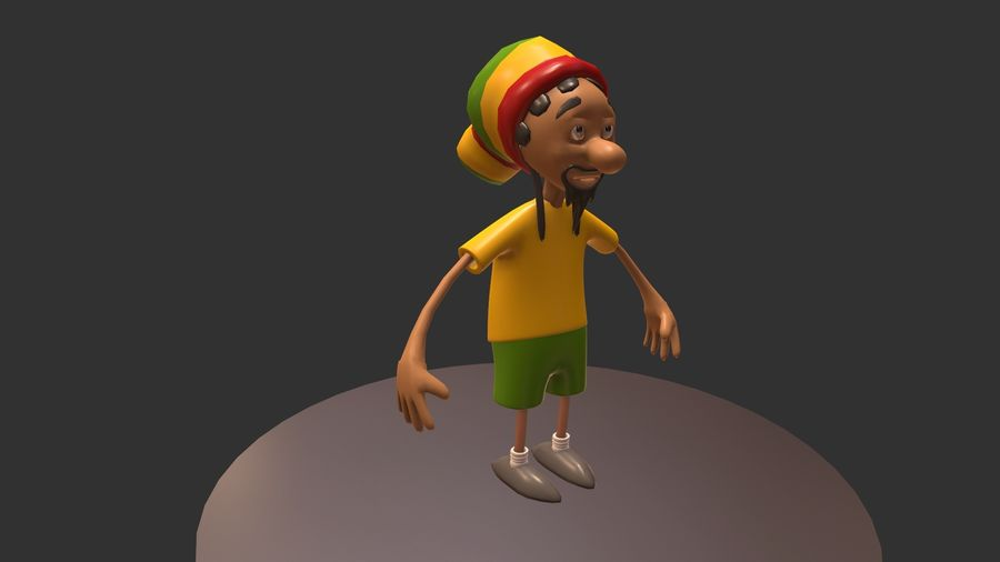 Carácter Toon royalty-free modelo 3d - Preview no. 6