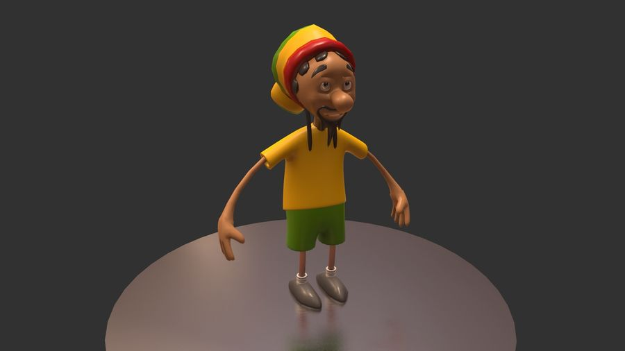 Carácter Toon royalty-free modelo 3d - Preview no. 15