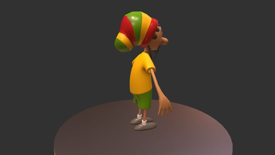 Carácter Toon royalty-free modelo 3d - Preview no. 7