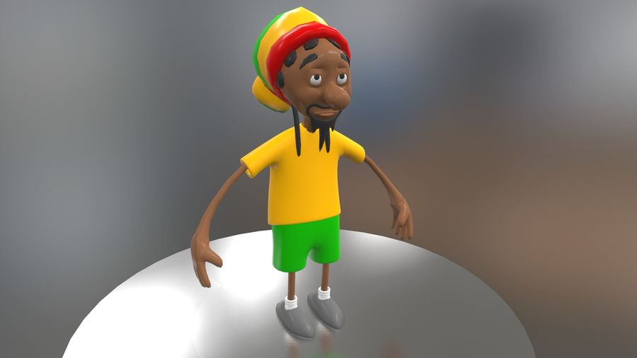 Carácter Toon royalty-free modelo 3d - Preview no. 16