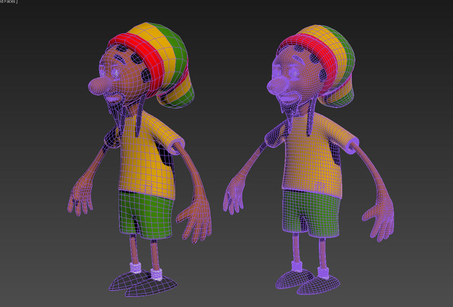 Carácter Toon royalty-free modelo 3d - Preview no. 3