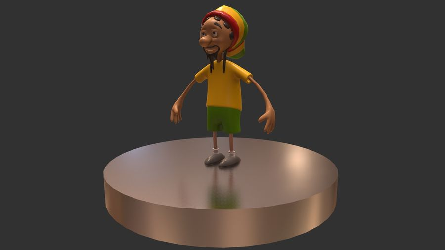 Carácter Toon royalty-free modelo 3d - Preview no. 11