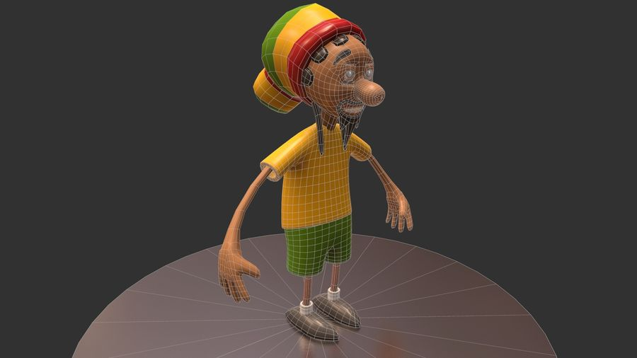 Carácter Toon royalty-free modelo 3d - Preview no. 13