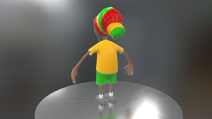Carácter Toon royalty-free modelo 3d - Preview no. 25