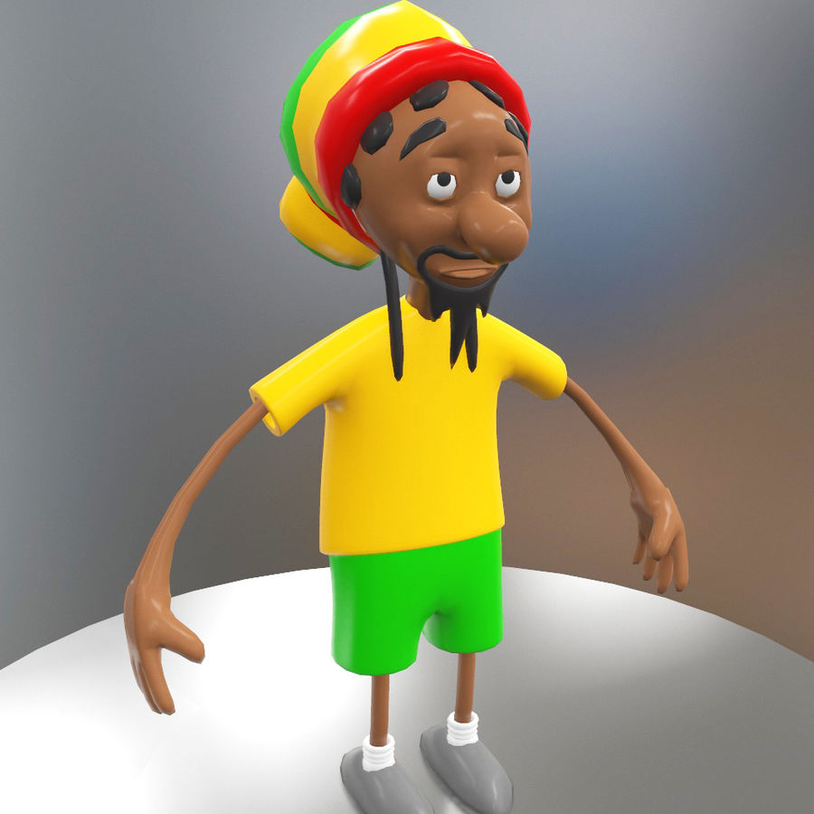 Carácter Toon royalty-free modelo 3d - Preview no. 1