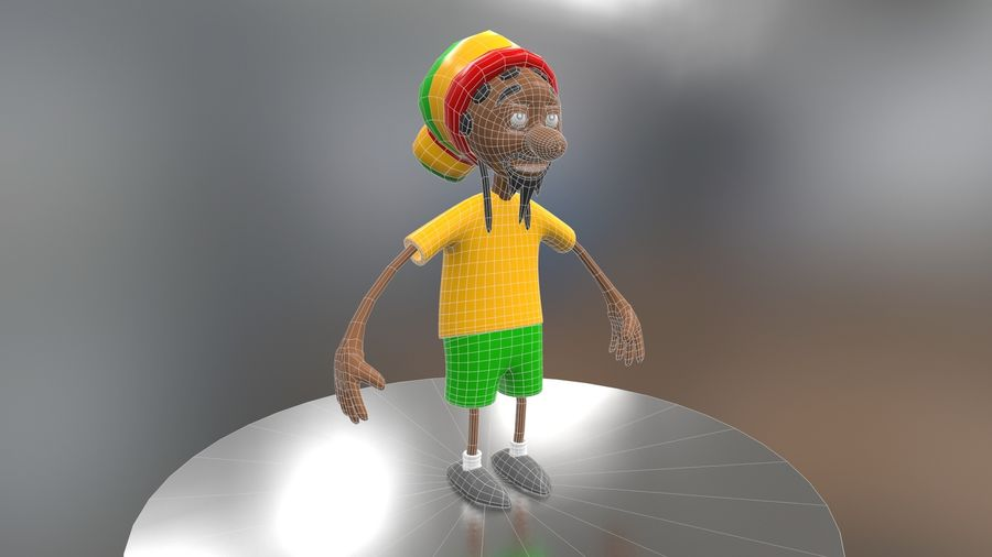 Carácter Toon royalty-free modelo 3d - Preview no. 24